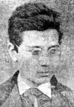 Димитър Мишев като ученик в Габровската гимназия през 1875 г.