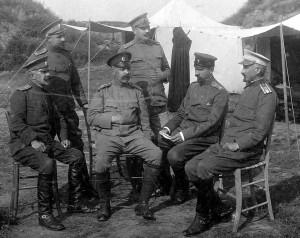 генерал Кръстю Маринов 1913г. защитата на Видин с офицери от командването на укрепен пункт-редут