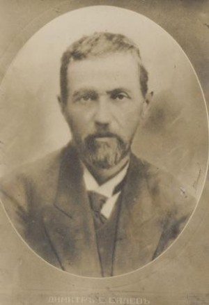 Снимка на Димитър Балев – кмет на Видин през периода 17 юни 1908 – 15 януари 1915 г., печатар, издател, съосновател на РДП в България. Б. д.