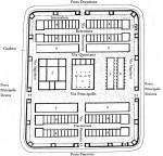 Принципен план на римски военен лагер