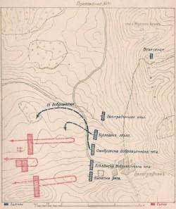 Карта според Кушев който е сърбин по народност 1885