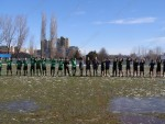Пред първото полувреме третодивизионния тим надигра своя съперник и успя да поведе в резултата с попадение на Николай Борисов в 43-ата минута