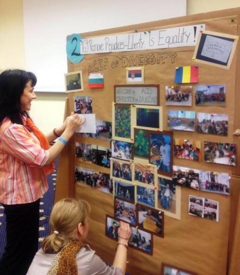 Координатори и ученици от българска, румънска и сръбска страна
