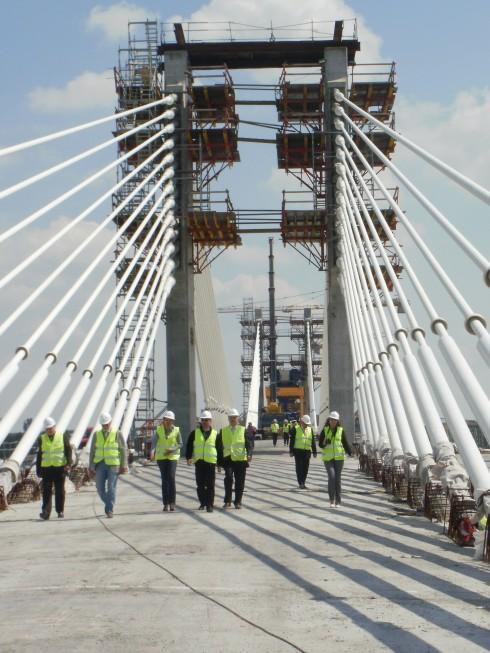 Преди завършването на Дунав мост Видин-Калафат, 29.05.2012