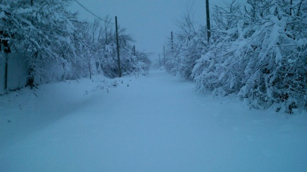 30-40 см е снежната покривка в село Киреево, община Макреш
