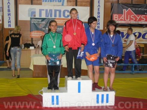 Видинска ученичка спечели бронзов медал от световното по самбо