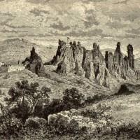 Белоградчишката крепост - гравюра на Феликс Каниц