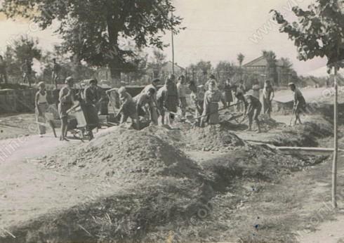Изграждане на пътят пред училището- Видбол, главната улица