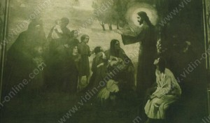 Исус благославя децата. Изображение от храма Св.Димитър - Видин - Видин