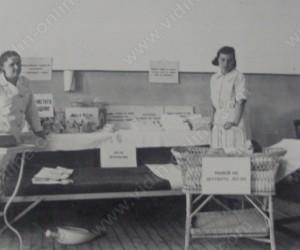 Гостуваща здравна изложба във Видин, представяна от др.Лидия Власева и сестра-посетителка Катя Кузманова септ. 1936