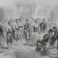 Български въстаници пред турския паша във Видин