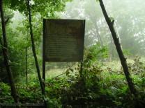 указателни табелки в биосферен резерват чупрене
