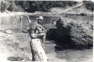 Иван Тонин на плажа Гагарин във Видин