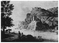 Изглед от крепостта Флорентин на гравюра издадена във Виена през 1826