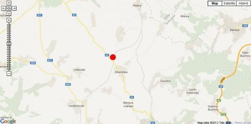 карта на земетресението