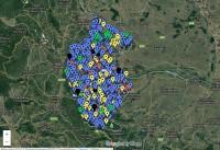 Карта на област Видин