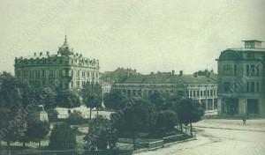 Градския площад с пощата - Видин