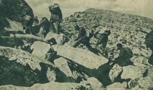 Изнасяне на хляб на позициите на Трети пехотен Бдински полк