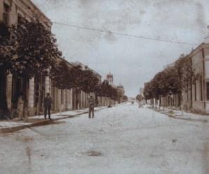 Изглед от улица АЛЕКСАНДРОВСКА във Видин 20-те години на 20 век